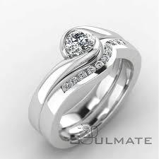 soulmate wedding ring 0 25 0 27 cts briliant cut 10 soulmate wedding ring