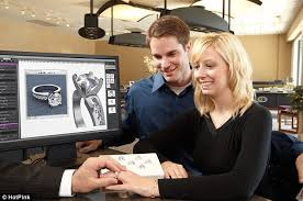 buying engagement ring 3d technology from pink jewellers allows fiances to create