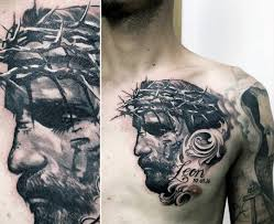40 jesus chest tattoo designs for men chris ink ideas