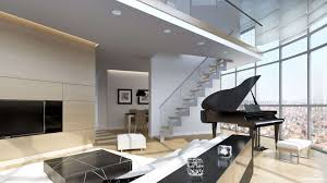Black Modern Coffee Table Apartments Elegant Modern Penthouse Decor With Large Glass