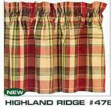 Plaid Kitchen Curtains Valances by Tailored Valance 15