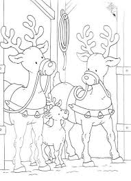family of reindeer free coloring christmas pages christmas