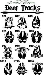 42 deer track tattoos designs symbols and ideas