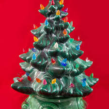 excellent ideas ceramic tabletop tree lights vintage new