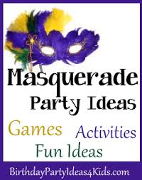 masquerade party ideas masquerade party birthday party ideas for kids