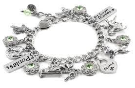 silver child charm bracelet images Personalized child 39 s jewelry i love horses girls silver bracelet JPG