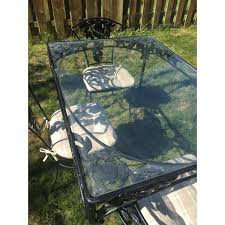 Woodard Outdoor Furniture by Vintage Woodard Wrought Iron Patio Set Pomegranate Pattern Table