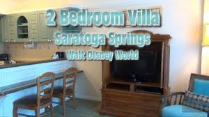 saratoga springs 2 bedroom villa tour walt disney world youtube