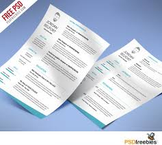 Resume Psd Template Minimal And Clean Resume Free Psd Template Psdfreebies Com
