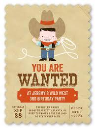 cowboy fun 5x7 invite boy birthday invitations shutterfly