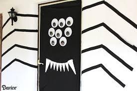 Door Decorations For Halloween Halloween Door Decorations Diy Silly Spider Darice
