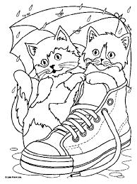 coloriage a la maison chats 5 à colorier allofamille