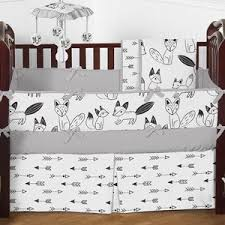 amazon com fitted crib sheet for black and white fox collection