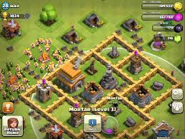 coc village layout level 5 clash of clans town hall level 5 base defense tutorial youtube