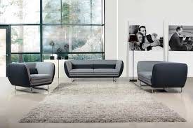 Grey Modern Sofa Modern Grey Two Tone Fabric Sofa Set Vg360 Fabric Sofas