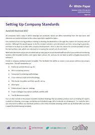 autocad electrical 2017 setting up company standards u2013 cadline
