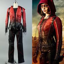 Green Arrow Halloween Costume Green Arrow Thea Queen Willa Holland Speedy Cosplay Red
