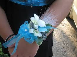 teal corsage pankow horticulture student designs