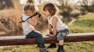 child photography of cute kids wallpaper