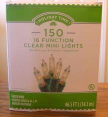 holiday time christmas lights holiday time 16 function memory christmas lights clear 150 count ebay