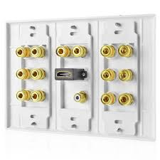 wall plate home theater 7 1 home theater speaker wall plate 1 rca lfe jacks 1 hdmi