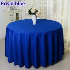 Wedding Linens For Sale Aliexpress Com Buy Royal Blue Colour Round Decorative Table