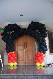 mickey mouse birthday party ideas kara s party ideas mickey mouse balloon archway from a mickey
