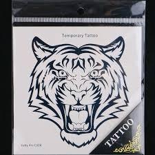 wholesale big tiger temporary tattoos stickers waterproof