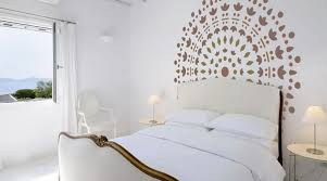 dessin mural chambre peinture décorative dessin géométrique sublimez les murs