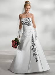 robe de mari e noir et blanc simple élégant populaire noir et blanc de mariage robe a ligne