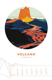 august volcano national park in hawaii geometric illustration