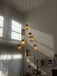 Contemporary Foyer Chandelier Delightful Modern Foyer Chandeliers With Blown Glass Light