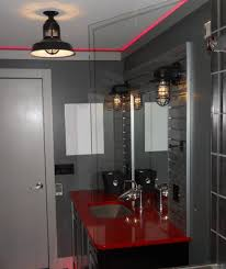 Gray And Red Bathroom Ideas - red bathroom decor ideas unusual white ceramic glossy sitting