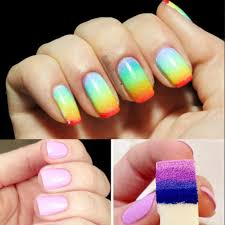 2016 new 8pcs women salon nail sponges nail art tools for acrylic