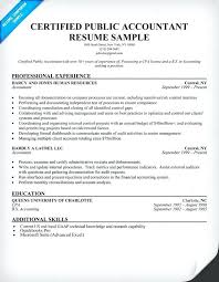 Accounting Resume Experience Sample Resume Of A Cpa Download Accountant Resume Samples Senior