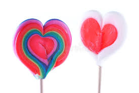 s day lollipops s day heart shaped lollipops stock photo image of