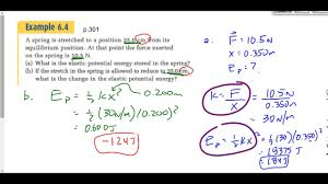 403 p2016f hooke u0027s law and elastic potential energy youtube