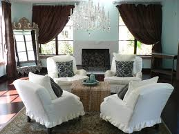 cool french country living room pictures white fabric armless sofa
