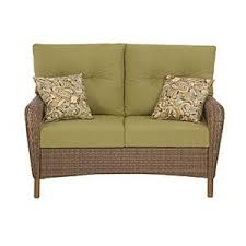 Martha Stewart Living Patio Furniture Cushions Martha Stewart Living Charlottetown Brown All Weather Wicker Patio