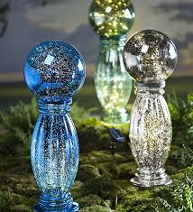 Garden Sphere Balls Solar Mercury Glass Gazing Ball And Stand Decorative Garden