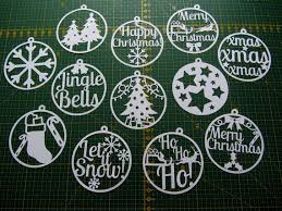 these 12 circular christmas templates can be printed onto paper