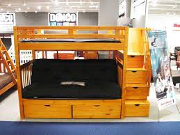 Bunk Bed With Mattress Walmart Futon Bunk Bed With Mattress Wood Cabinets Beds Sofas