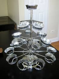 chandelier cupcake stand godinger silver cupcake stand hot mitts