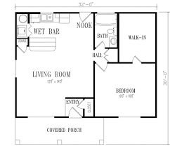 simple house plan with 1 bedrooms interior design