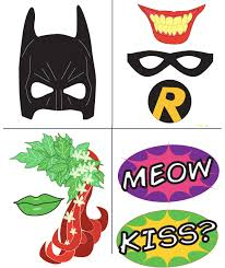 free printable photo booth props template batman with free photobooth mask prop printables pretty