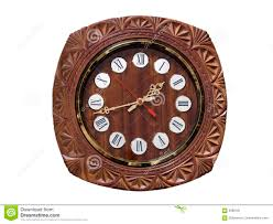 Wooden Wall Clock Round Wooden Wall Clock Stock Image Image 6389181