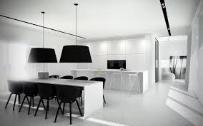 kitchen black white and wood kitchen with black and white