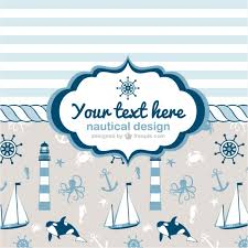 painted nautical cards vector free