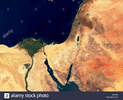 Map Of The Middle East by Satellite Map Of The Middle East Earth From Space Stock Photo