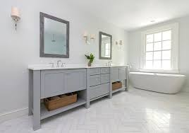Herringbone Bathroom Floor by Jll Design Bar Master Bathroom Before And After